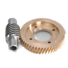 Custom Cheap Brass Worm Gear Set