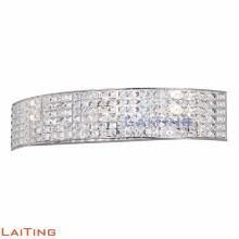 Moderna lámpara colgante de cuerda de cáñamo lámpara de pared de cristal de plata semicircular 32428