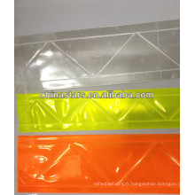 Feuille de PVC rétro réfléchissante prismatique