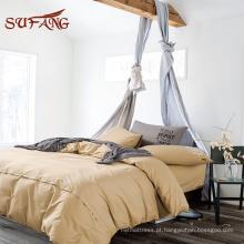 Nantong fábrica Hypoallergenic colorido egípcio algodão consolador set / bed sheet set em queen size