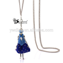 2015 Hot Sale populaire poupée pendentif en métal collier bijoux vintage bijoux en gros collier en gros JA6517-B1