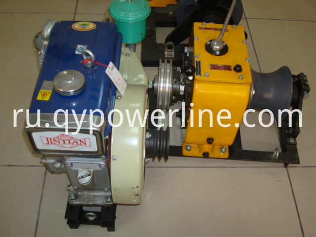 Cable winch diesel engine