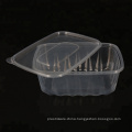 high quality 1000ml square custom clear takeaway boxes with lids
