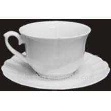 Haonai Cood regarde Nouvelle tasse de café en céramique blanche avec soucoupe
