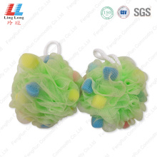 Light colored soft foaming sponge ball