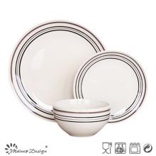 18ШТ Керамическая посуда с ручной росписью простой кругах