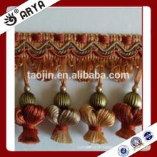 2016 new design handmade pumpkin elegant tassel fringe for curtain decoration and other home textile