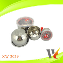 4pcs stainless steel keep fresh salad bowl with PP lid SS 201