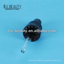 Glass dropper 18/400 with glass pipette black plastic closure
