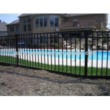 Высокое качество распыления пластиковая плоская-верхней стальной забор для ворота