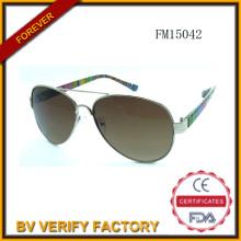Moda PC & Metal gafas de sol mixtas (FM15042)