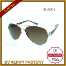 Fashion PC & Metal Mixed Sunglasses (FM15042)