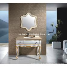 Vaidade de madeira clássica superior de mármore do banheiro (1807)