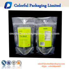 bolsa con cremallera de 5 por 8 pulgadas de plástico transparente muestra de plástico cosmético de embalaje