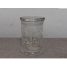 Neues Design Glas Kerze Jar (A-1018)