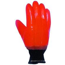 Gant de travail d'hiver de PVC de revêtement lisse de mousse de finition-5124