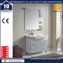 Moderne einfache europäische Stil Grau Malerei Badezimmer Schränke