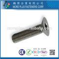 Fabricant à Taiwan DIN7991 Acier au carbone Classe 4.8 Tête de tête à tête hexagonale standard à tête plate M6