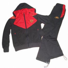 Men's Track Suit, Made of knitted Polyester with Spandex Fabric