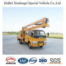 Camión de cubo aéreo del brazo plegable del brazo de 16m Dongfeng Euro5
