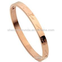 Mode bracelet bracelet romantique femmes masculines couple amoureux lettrage gravure bracelets bracelet bijoux en acier inoxydable