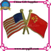Значок металлического флага с логотипом заказчика