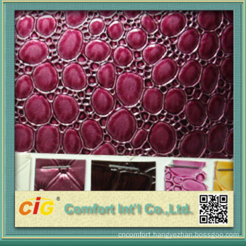 Popular Embossed and Printed Designs of pvc leather trimming and textiles for Upholstery and Bags