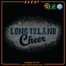 Long Island Cheer Hot Fix Kristalle Muster