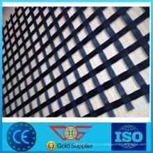 Производство стекла с покрытием Двухосное geogrid волокна для дорожного армирования
