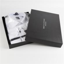 Black Cardboard Shirt Packaging Clothing Gift Box