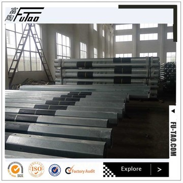 100KV  Galvanized  Octagonal Electrical Steel Pole