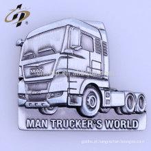Distintivo magnético do metal do caminhão feito sob encomenda por atacado do preço de fábrica com logotipo