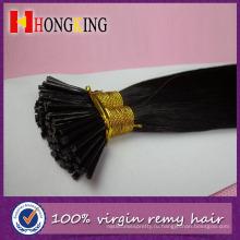 2016 8А высокое качество шелковистая прямая 100% Перуанский девственные волосы я чаевые наращивание волос