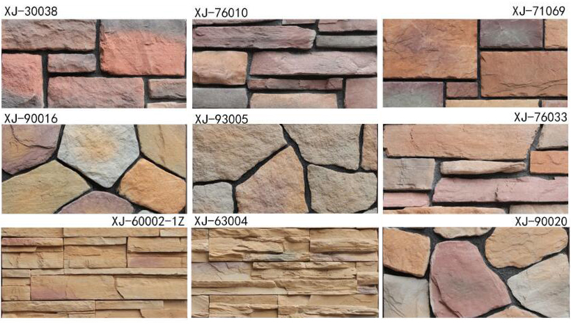 stacked stone effect tiles