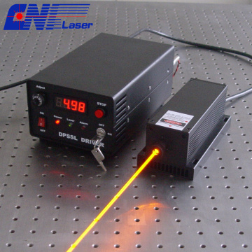 100mw 593.5nm laser solide orange pour instrument optique