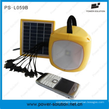 2W LED Solar Emergency Lantern with USB Mobile Charger