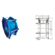 Universal  Straight  Coupling Pipe Fitting