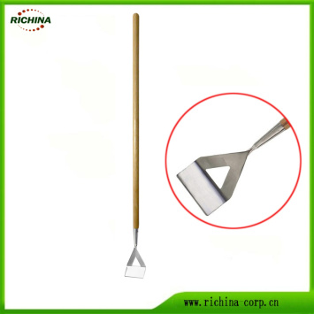 Stainless Steel Dutch Hoe with Wood Handle