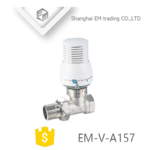 EM-V-A157 Male union brass thermostatic control radiator angle manual valve