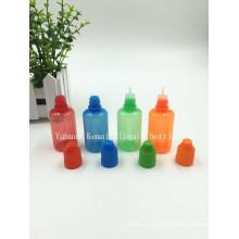 ISO8317 e SGS 30 ml E Garrafa líquida com tampa prova de criança