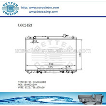 Радиатор для TOYOTA HIGHLANDER 01-05 Алюминий 1640028240 Производитель и прямые продажи