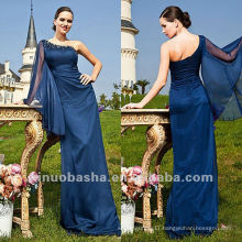One Shoulder Sheath Floor Length Beads Mother Bridal Dress Eevening Gown