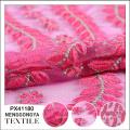 Nueva llegada Diseñador suave tela de bordado de encaje indio soluble en agua