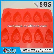 2013 popular coração personalizado em forma de forma de cozimento do silicone