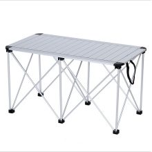 Table pliante de camping de haute qualité en gros, table pliante d'alliage d'aluminium
