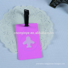 fancy soft pvc creative 2D bag luggage tags
