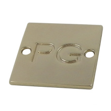 Customized Square Two Hole Gold Metal Tags