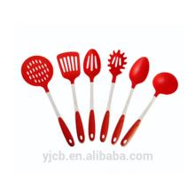 Quality Red Nylon Handle Nylon Cooking Utensils Set