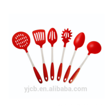 Quality Red Nylon Handle Nylon Cooking Utensils Set