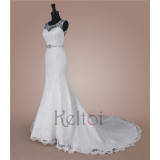 thai lace mermaid wedding dress patterns sweep train